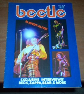 Beetle Magazine 1973 Frank Zappa Slade King Crimson Jeff Beck Mickey