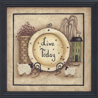 Live Today Sheep Framed Print by Mary Ann June