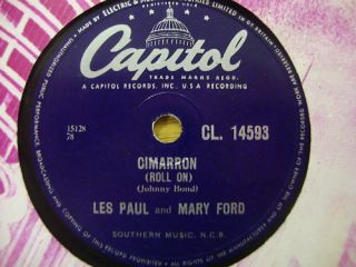 Les Paul Mary Ford Cimarron 78 RPM