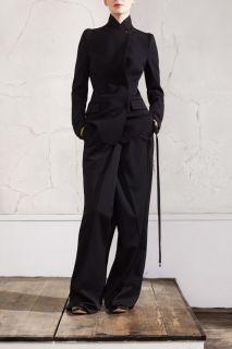 Maison Martin Margiela Black Wool Tuxedo Jacket Blazer 8 10 34 36