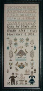 Mary Ann Randle 1855 Sampler Historic Stitches Chart