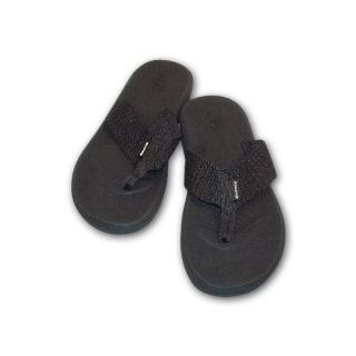 Black Hawaii Beach Sandals flip flops Thongs Slippers Mens Medium 8 9