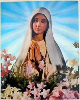 25 St Our Lady of Fatima Virgin Mary Posters Image Lot