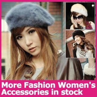New Warm Soft Winter Womens Girls Wool Beret Beanie Hat Ski Cap