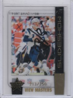 Tom Brady 2005 Leaf Rookies Stars Slideshow SS 12 250 Patriots