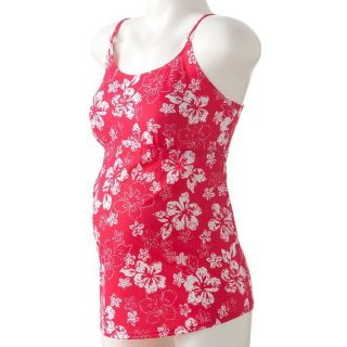 New Motherhood Maternity Pink Floral Tankini Swimsuit Bathing Suit