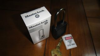 Master Lock Company Model 410 Black 6 Pin Safety Lock Out Padlock