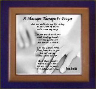 Massage Therapist Prayer Keepsake Box Personalized