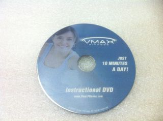 Vmax Fitness Whole Body Vibration WBV Exercise DVD Instructional Video
