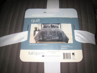 Urban Cityscape Full Queen Quilt Coverlet NIP