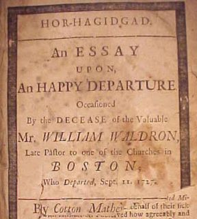 1727 Antique Signed Cotton Mather New England Bible Antique Holy