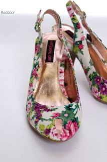 New Material Girl Sexy Peep Toe Slingback Pump Heels Multi Color Size