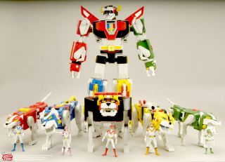 Matty Collector Voltron Complete Set Sven Black Red Green Blue Yellow
