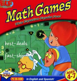 Math Games for Kids PC CD ROM Game New Ages 4 7