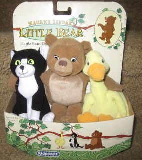 Maurice Sendaks Little Bear Duck Cat Plush Lot 3 New