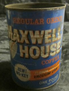 Maxwell House Coffee Tin Without Lid New No Key Free US SHIP