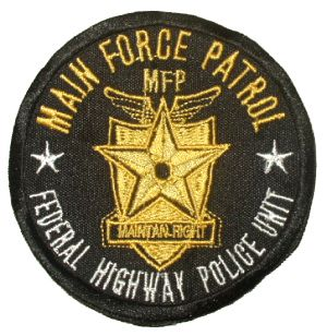 Mad Max Force Patrol Embroidered Patch Road Warrior MFP
