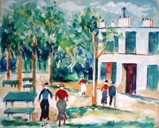 Maurice Utrillo 1883 1955 Manner of Pedestrians