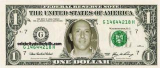 Tool Maynard James Keenan Celebrity Dollar Bill Uncirculated Mint US