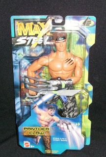 Mattel Max Steel Action Figure Panther Claw RARE Strike Claw Combat