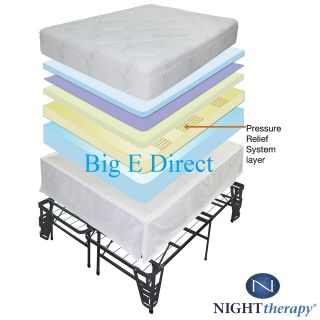 Therapy Pressure Relief Memory Foam Mattress & Bed Frame Set 5 Sizes