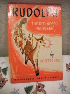 Rudolph The Red Nose Reindeer by Robert L May HC Maxton Books