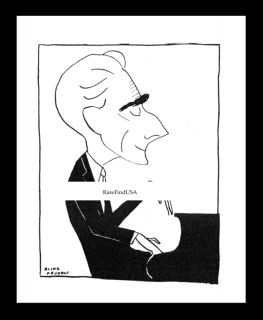 MAURICE RAVEL 1934 PIANO Bolero Composer French PIANIST NYC Caricature