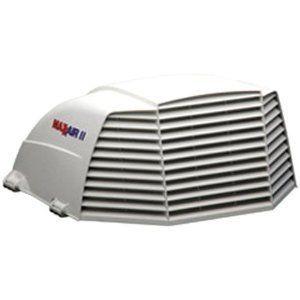 MaxxAir White Vent Cover RV Wind Rain Fresh Air Camper Trailer Roof