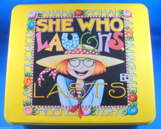 Mary Engelbreit She Who Laughs Tin Can