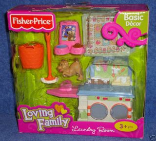 New Fisher Price Loving Family Dollhouse Washer Dryer Laundry Room