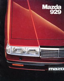 1984 Mazda 929 Australia Sales Brochure Book