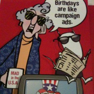 Hallmark Birthday Card Shoebox Maxine Birthdays Like Campaign Ads New
