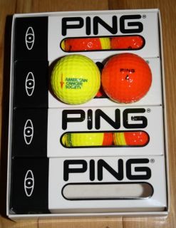 Brand New Mint Condition Ping Eye Golf Balls Orange Yellow