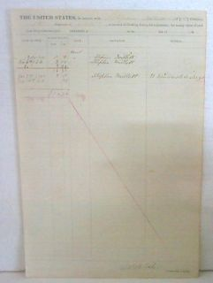 Civil War 190th Inf Ledger Signed s Millott M Mayall