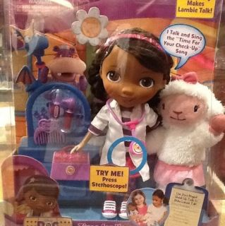 Disney Doc McStuffins Time For Your Checkup Doll And Lambie NEW SOLD