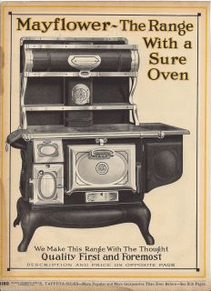 1915 Mayflower Wood Cooking Cook Stove Antique Kitchen Range Ad