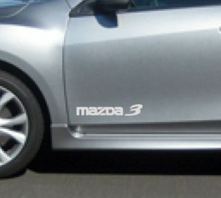 Mazda 3 mazdaspeed Hatchback Decal Sticker Emblem Logo White Pair