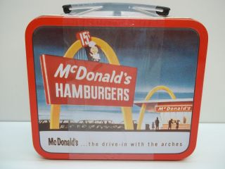 New SEALED 1998 McDonalds Collectible Tin Box or Mini Lunchbox No