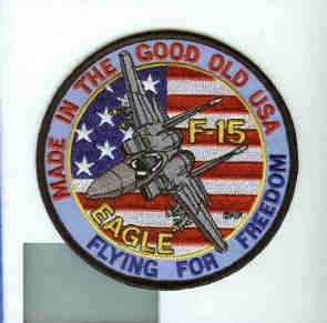 McDonnell Boeing F 15 Eagle Freedom USAF Fighter TFS Squadron Patch