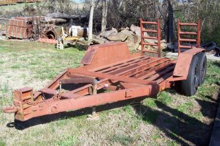 Heavy Duty Pintle Hitch Trailer Bobcat Trencher Excavator Etc