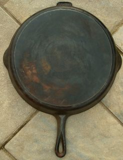 Very RARE 13 Griswold Erie Cast Iron Skillet Pan