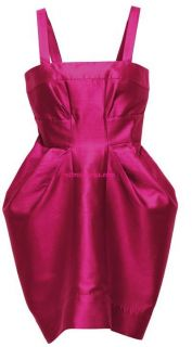 Matthew Williamson H M Pink Cotton Silk Tulip Party Dress Large 16 12