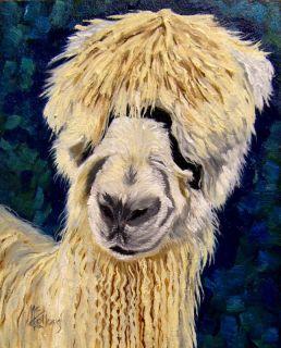 Alpaca Original Oil Painting Kathie Mccollough