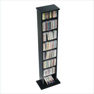 Prepac Slim Rack Black CD DVD Media Storage