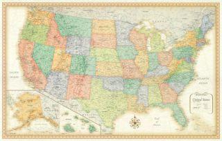 Rand McNally United States US USA Wall Map Framed