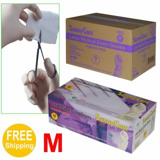 Powder Free Latex Medical Exam Gloves Vinyl Free Medium