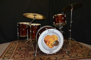 Used Yamaha Oak Custom 5pc Drum Set Chris McHugh