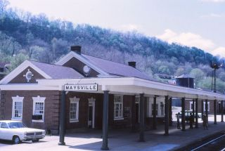 Chesapeake & Ohio Maysville KY Train Station Vintage Cars 68