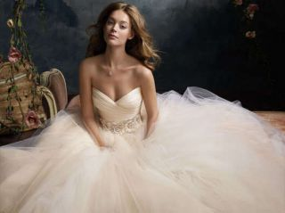New 2013 Tulle Sweetheart White or Ivory Wedding Dress Bridal Gown