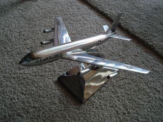 Chrome Desk op Model Boeing Je Sraoanker Airplane Col Melcher